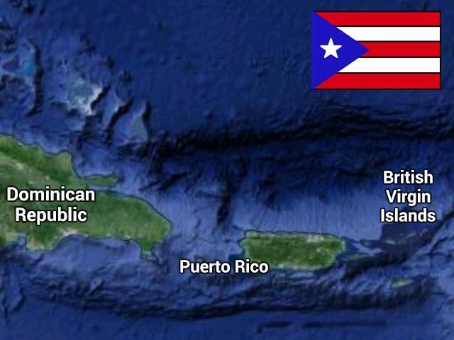 PuertoRicoMapFlag