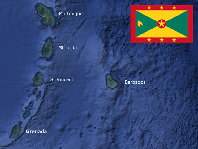 GrenadaMapFlag