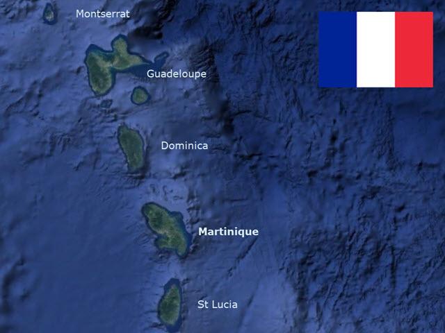 MartiniqueMapFlag